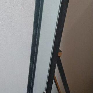等身大鏡/ミラー[木枠割れ有り](150×30)