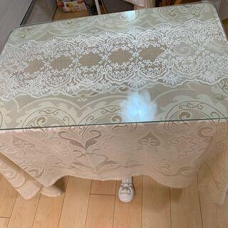 【ネット決済】ダイニングテーブル ガラス天板