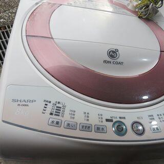 ★取引中です★シャープ8キロ洗濯機イオンコート2014穴無しふろ...
