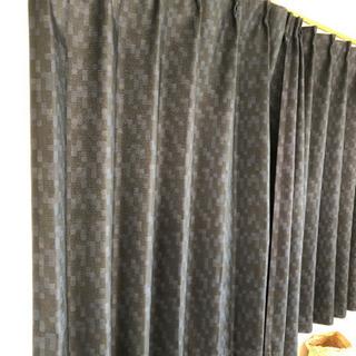 ニトリカーテン ネイビー 遮光、遮熱、形状記憶