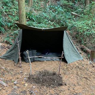 ソロキャンプ US パップテント 40000円