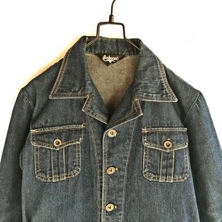 70s デニムジャケット サファリジャケット