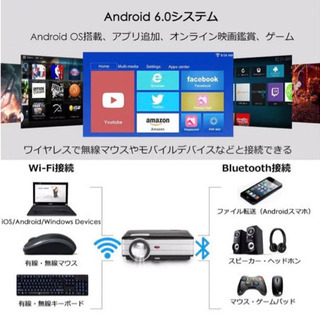 EUG LEDプロジェクター3500lm  Android6.0プロジェクター - 練馬区