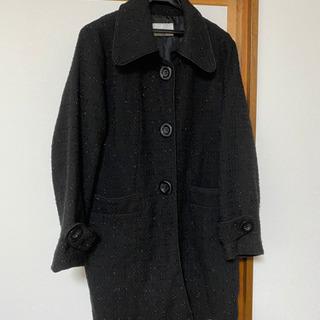 レディース コート 黒 15号 大きいサイズ