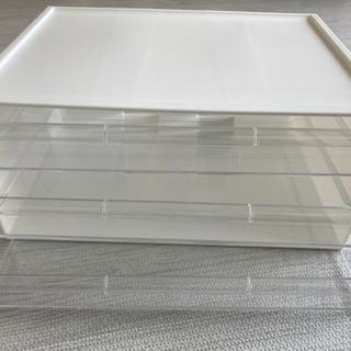 ニトリ ワイド収納ケース3段(オールホワイト)