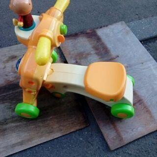 アンパンマン歩行器+四輪車2way遊具