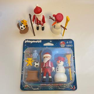 playmobil サンタクロースと雪だるまブリスターセット