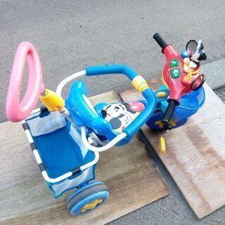 ミッキーマウス おしゃべりカーゴ三輪車