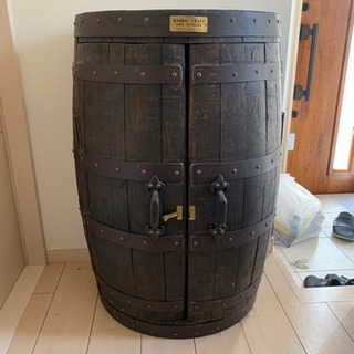 ウイスキー樽両開きキャビネット(壁付)バレルクラフト樽物語
