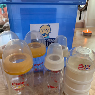 ミルトン専用容器・母乳実感哺乳瓶・粉ミルク小分け・離乳食調理セット
