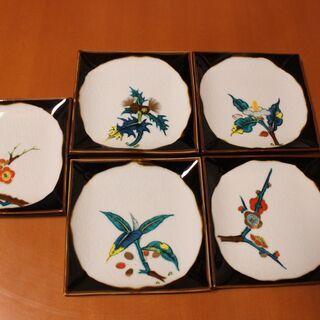 九谷焼(陶山) 角皿 5枚組