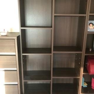 【ネット決済】【11/30午前中まで引取】本棚 ブラウン②