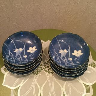 中皿  さら  皿  花柄  食器  テーブルウェア  【10客】