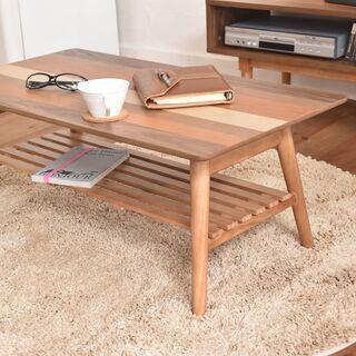 ■折りたたみセンターテーブル スクエア 4種の天然木■bbf-0331