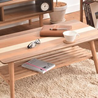 ■折りたたみセンターテーブル スクエア 4種の天然木■bbf-0333