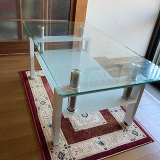 お値下げ♪ガラステーブルの画像