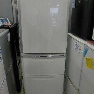 【クリーニング済】三菱335L 3ドア冷蔵庫「MR-C34E-W...