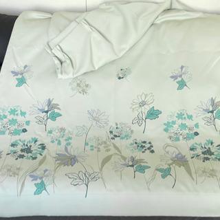 大サイズ一級遮光カーテン2枚セット(下部のみに模様)