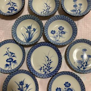 季節の花5柄 小皿6枚 & 小鉢7枚セット