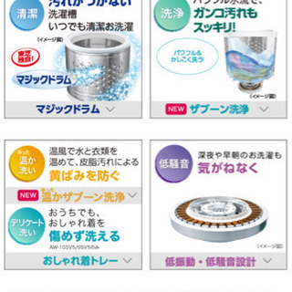東芝 タテ型洗濯乾燥機 グランホワイト AW-8V5(W) − 千葉県