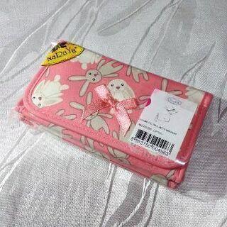 ☆新品☆ ピンク×ラビット・ミラー付きポーチ(NaRaYa)