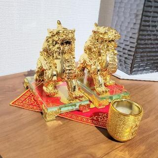 中国獅子装飾品セット
