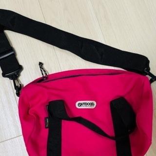 【800円】outdoorピンクショルダーバッグ