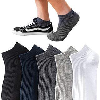 靴下 レディースショートソックス男女兼用(5足セット)#776