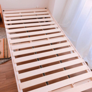 【お渡し決定】パイン無垢材 すのこベッド 美品 − 東京都