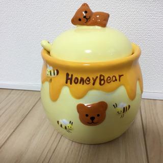 [決まりました]クマさんの入れ物(フタ、スプーン付き)