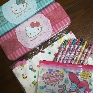 新品 文房具 キティちゃん 筆箱 カンペン マイメロディ 色鉛筆...