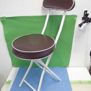 JM9157)折りたたみ椅子 ブラウン 中古品【取りに来られる方限定】