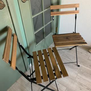 【11月まで/屋内使用のみ/1脚1000円】IKEA 折りたたみ式屋外チェア - 台東区