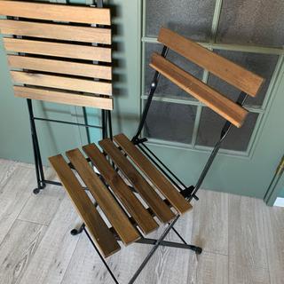 【11月まで/屋内使用のみ/1脚1000円】IKEA 折りたたみ式屋外チェア − 東京都