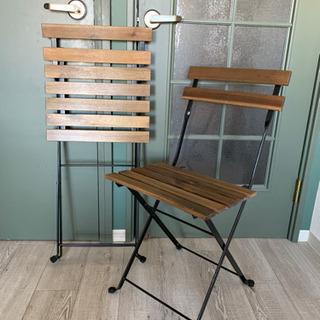 【11月まで/屋内使用のみ/1脚1000円】IKEA 折りたたみ式屋外チェアの画像