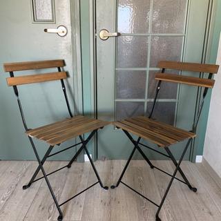 【11月まで/屋内使用のみ/1脚1000円】IKEA 折りたたみ式屋外チェア - 家具