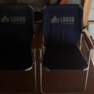 LOGOS折り畳み椅子 2脚【受渡し決定】