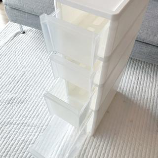 【隙間収納】ストッカー 4段 ホワイト キッチン 洗面所 サニタリー - 品川区