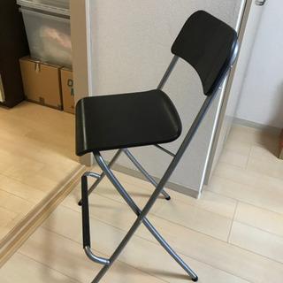 【取引中】IKEA折畳ハイスツール/カウンターチェアの画像