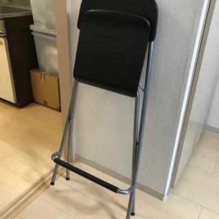 【取引中】IKEA折畳ハイスツール/カウンターチェア - 港区