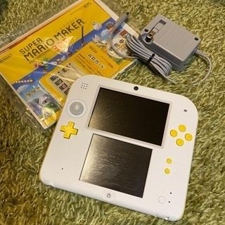 ニンテンドー2DS スーパーマリオパック【ホワイト×イエロー】 ...