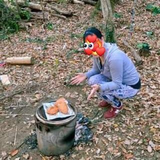 八王子山林で焼き芋ピクニック