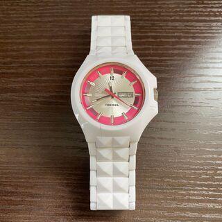 【DIESEL】クォーツ腕時計 ホワイト