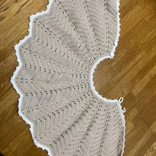 手編みポンチョ&帽子セット
