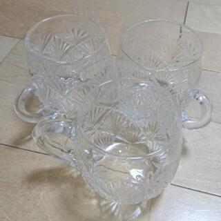 【お取引決定】ガラスコップ3つ