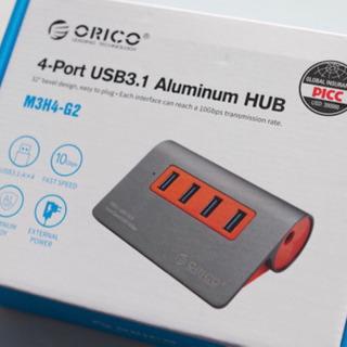 【新品】4-Port USB3.1 Aluminum HUB