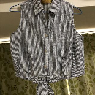 セシルマクビー ストライプシャツ Mサイズ 美品
