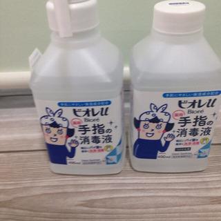 未使用品☆2セット ビオレU 手指消毒液  本体400ml +詰...