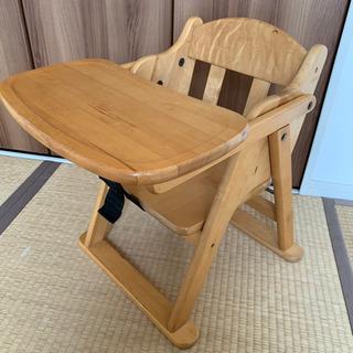 木のベビーチェア ロータイプテーブル付き