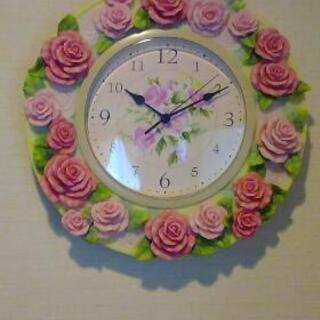 薔薇の掛け時計🌹 発送可能